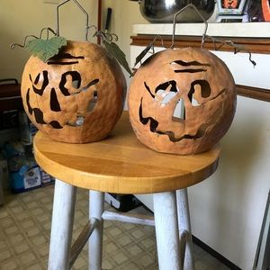 Pair of Decorative Pumpkins